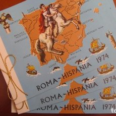 Sellos: FERIA NACIONAL DEL SELLO - FNMT - ROMA-HISPANIA 1974. Lote 140644414
