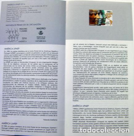 Sellos: Sellos filatelia díptico informativo america UPAEP - Foto 2 - 145206106