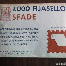 Sellos: 1000 FIJASELLOS SFADE. Lote 146628766