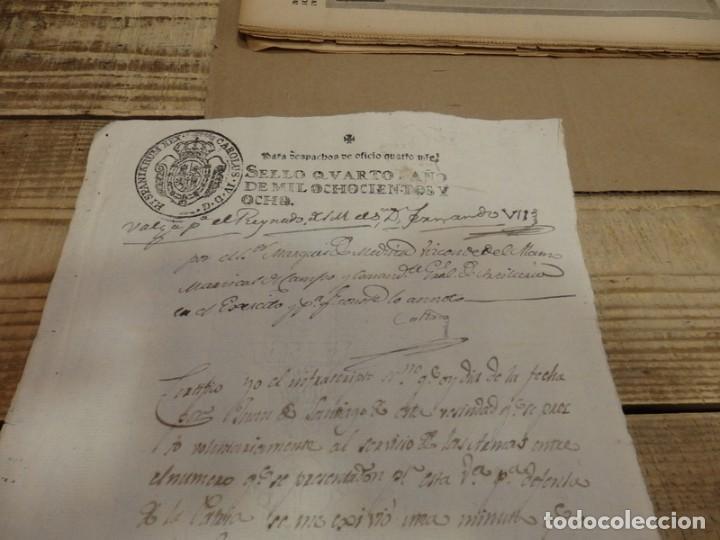 Sellos: TIMBROLOGÍA FISCAL 1808 SELLO DE OFICIO 4 MARAVEDIS. HABILITADO FERNANDO VII - Foto 2 - 151476210