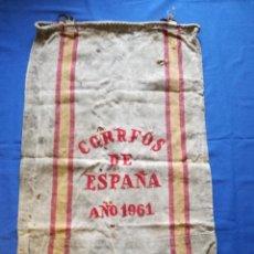 Sellos: ANTIGUO SACO CORREOS AÑO 1961. ORIGINAL DE EPOCA Y MUY DECORATIVO.. Lote 153876518