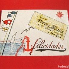 Sellos: SOBRE DE LOS AÑOS 30 DECORADO CON DIBUJOS ORIGINALES A MANO - CARDENAL CISNEROS 58. Lote 155913146