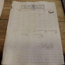 Sellos: PAPEL SELLADO - TIMBROLOGÍA - AÑO DE 1836 - SELLO DE OFICIO DE CUATRO MARAVEDÍES,HABILITADO A MANO. Lote 157816970