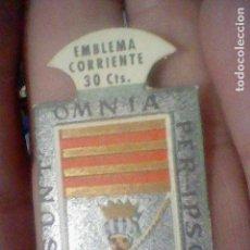Sellos: EMBLEMA CORRIENTE 30 CTS ARMAS GRAN CAPITAN ESCUDO SERIE B Nº 7 AUXILIO SOCIAL. Lote 159411134
