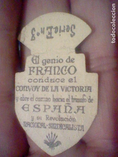 Sellos: EMBLEMA CORRIENTE 30 CTS ARMAS GENIO FRANCO CONVOY VICTORIA SERIE E Nº 3 AUXILIO SOCIAL - Foto 2 - 159411774