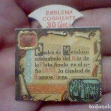 Sellos: PEDRO MENDOZA EMBLEMA CORRIENTE 30 CTS FUNDA BUENOS AIRES AUXILIO SOCIAL SERIE F Nº 7 *. Lote 159438698