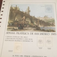 Sellos: SEMANA FILATELICA DE SAN ISIDRO 1983. Lote 160674440