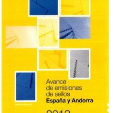 Sellos: FOLLETO AVANCE EMISIONES SELLOS ESPAÑA Y ANDORRA 2013 (TRIMESTRE 1. CORREOS Y TELEGRAFOS DE ESPAÑA. . Lote 161015690