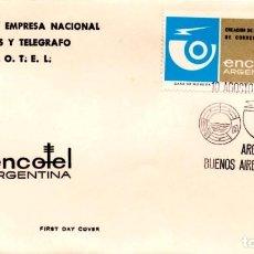 Sellos: SOBRE PRIMER DÍA ARGENTINA 1974 CORREOS TELEGRAFO ENCOTEL FIRST DAY COVER FILATELIA SELLO. Lote 161467642
