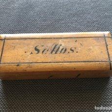 Sellos: CAJA DE MADERA PARA SELLOS. Lote 164888601