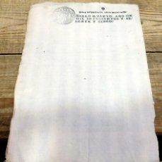 Sellos: PAPEL EN BLANCO TIMBRADO FISCAL 1765 CARLOS III SELLO DE OFICIO TIMBRE 4 MARAVEDIS TIMBROLOGIA. Lote 166438766