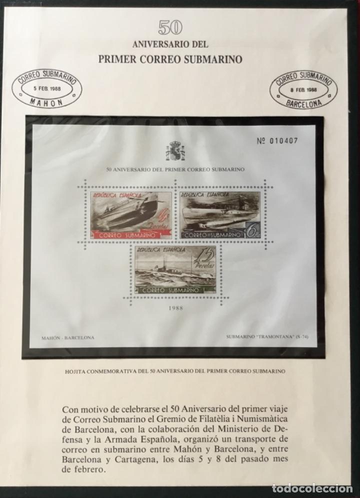 1988-ESPAÑA EXP. BARNAFIL 88 PREMIOS ANFIL CON 4 HOJITAS RECUERDO CUADERNO CUADRÍPTICO (Sellos - Material Filatélico - Otros)