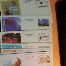Sellos: AEROGRAMAS NUEVOS DE ESPAÑA Y CON MATASELLO PRIMER DÍA. Lote 168153140