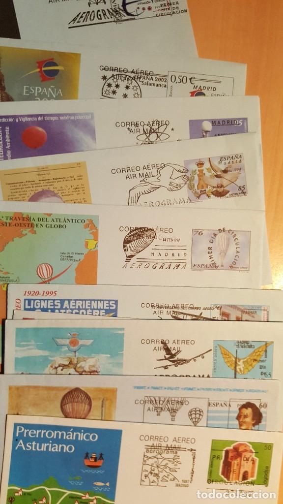 Sellos: AEROGRAMAS NUEVOS DE ESPAÑA Y CON MATASELLO PRIMER DÍA - Foto 2 - 168153140