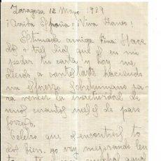 Timbres: == CM92 - CARTA CON CENSURA MILITAR REPUBLICA ESPAÑOLA - ZARAGOZA / VALENCIA. Lote 168266288