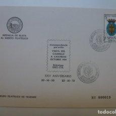 Selos: GRUPO FILATÉLICO DE TENERIFE. VISITA DEL CAUDILLO A CANARIAS. 1975. VITOLA PEÑAMIL. Lote 171092377