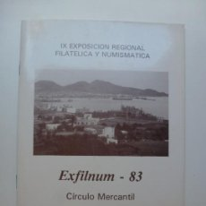 Sellos: IX EXPOSICIÓN REGIONAL FILATÉLICA Y NUMISMÁTICA. EXFILNUM 83. LAS PALMAS 1983. Lote 171092989