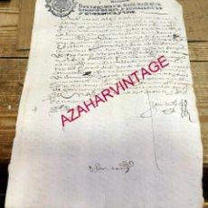 Sellos: PAPEL TIMBRADO FISCAL FELIPE V AÑO 1741 , SELLO CUARTO DE 10 MARAVEDIS TIMBROLOGIA. Lote 171490027