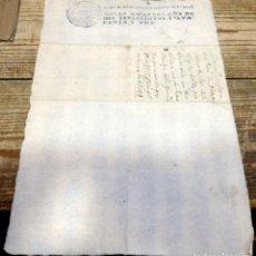 Sellos: PAPEL TIMBRADO FISCAL FELIPE V AÑO 1741 , SELLO POBRES DE SOLEMNIDAD DE 4 MARAVEDIS TIMBROLOGIA. Lote 171574657