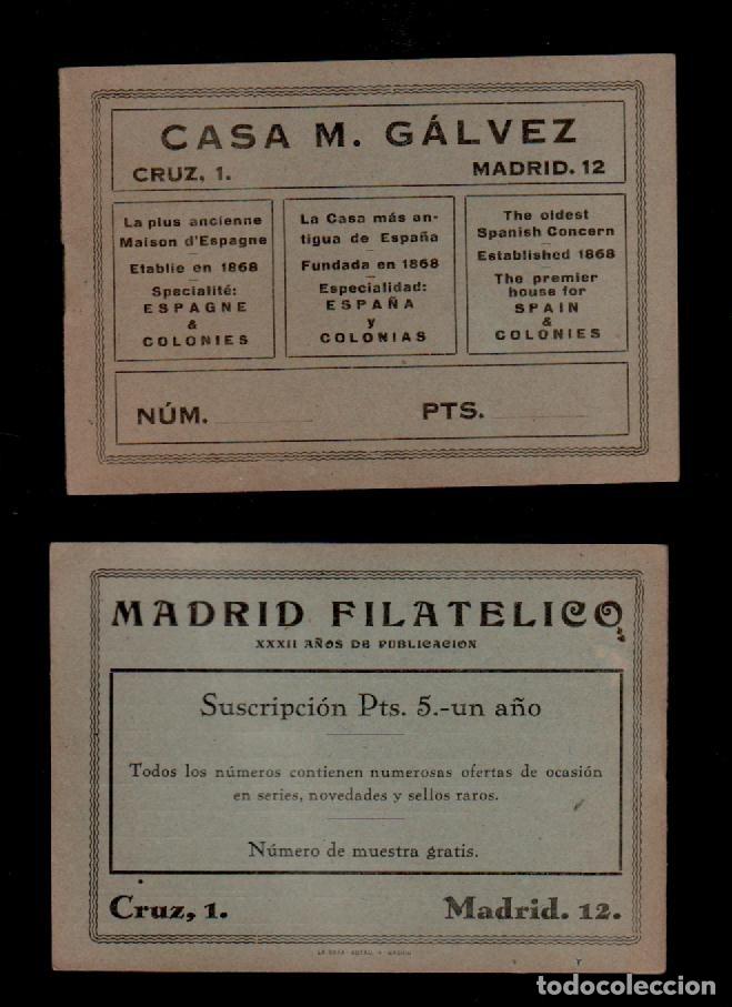 C16-9 CASA M. GALVEZ FUNDADA EN 1863 LIBRETA - CATÁLPGO DE FINALES SIGLO XIX, ESPECIAL PARA LA VENTA (Sellos - Material Filatélico - Otros)