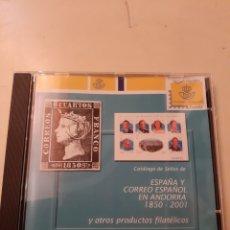 Sellos: CATÁLOGOS EDIFIL CD ESPAÑA ANDORRA 1850/2001. Lote 175537620
