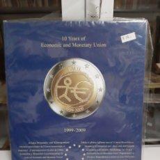 Sellos: ALBUN 2 EUROS COMUNIDAD EUROPEA 1999/2009 EMU. Lote 177305578