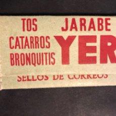 Sellos: FUNDA SELLOS CORREOS CON PUBLICIDAD JARABE YER. Lote 177702490