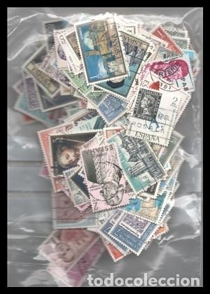 X LOTE 500 SELLOS DE ESPAÑA, MUY POCOS REPETIDOS. (Sellos - Material Filatélico - Otros)