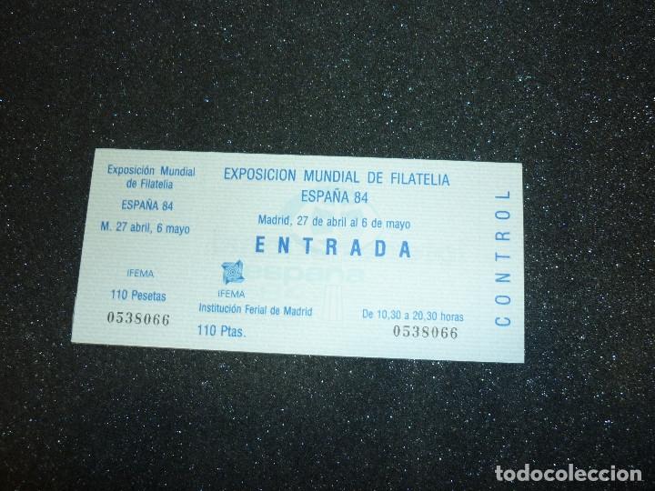 Sellos: 5 ENTRADAS EXPOSICION MUNDIAL DE FILATELIA ESPAÑA 84 - Foto 2 - 178610576
