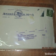 Sellos: SOBRE DE CARTA FABRICA ANDRES ARCH MILA TIPAS EMBUTIDOS MARCA TORO BARCELONA. Lote 44002943