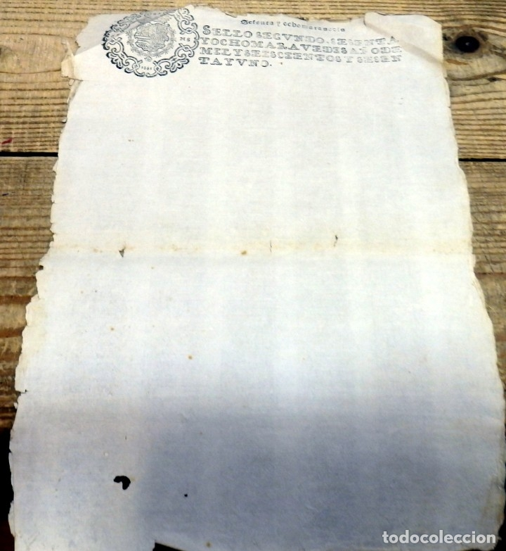 TIMBROLOGIA.FELIPE IV, SEGUNDO.68 MARAVEDIES.AÑO 1661, EN BLANCO, RARISIMO (Sellos - Material Filatélico - Otros)