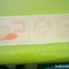Sellos: APARATOS CONTROL PUBLICIDAD MATASELLO RODILLO ROJO 1971 RECORTADO 12 CMS APROX LARGO. Lote 182746800