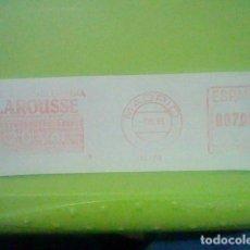 Sellos: LAROUSSE PUBLICIDAD MATASELLO RODILLO ROJO 1971 RECORTADO 14 CMS APROX LARGO. Lote 182747206