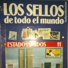 Sellos: LOS SELLOS DE TODO EL MUNDO PLANETA AGOSTINI AÑO 1989 , FASCICULO + SELLO NUMERO 11 ESTADOS UNIDOS. Lote 182836921