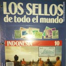 Sellos: LOS SELLOS DE TODO EL MUNDO PLANETA AGOSTINI AÑO 1989 , FASCICULO + SELLO NUMERO 10 INDONESIA. Lote 182837005