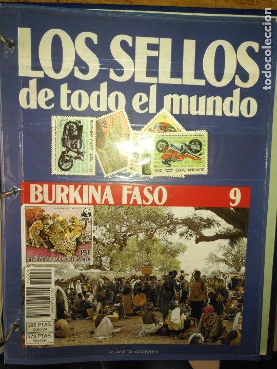LOS SELLOS DE TODO EL MUNDO PLANETA AGOSTINI AÑO 1989 , FASCICULO + SELLO NUMERO 9 BURKINA FASO (Sellos - Material Filatélico - Otros)