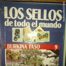 Sellos: LOS SELLOS DE TODO EL MUNDO PLANETA AGOSTINI AÑO 1989 , FASCICULO + SELLO NUMERO 9 BURKINA FASO. Lote 182837062