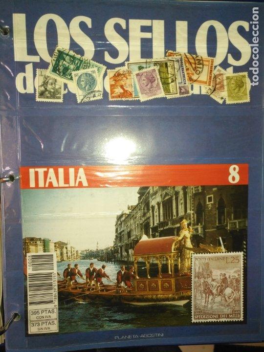 LOS SELLOS DE TODO EL MUNDO PLANETA AGOSTINI AÑO 1989 , FASCICULO + SELLO NUMERO 8 ITALIA (Sellos - Material Filatélico - Otros)