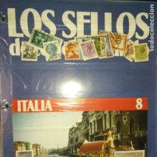 Sellos: LOS SELLOS DE TODO EL MUNDO PLANETA AGOSTINI AÑO 1989 , FASCICULO + SELLO NUMERO 8 ITALIA. Lote 182837158
