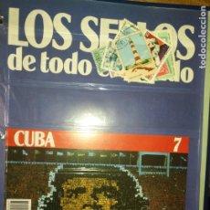 Sellos: LOS SELLOS DE TODO EL MUNDO PLANETA AGOSTINI AÑO 1989 , FASCICULO + SELLO NUMERO 7 CUBA. Lote 182837390