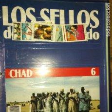 Sellos: LOS SELLOS DE TODO EL MUNDO PLANETA AGOSTINI AÑO 1989 , FASCICULO + SELLO NUMERO 6 CHAD. Lote 182837461
