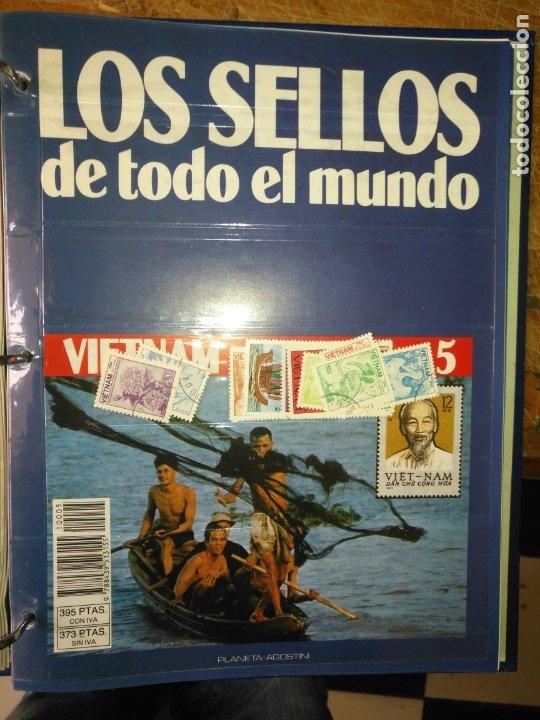 LOS SELLOS DE TODO EL MUNDO PLANETA AGOSTINI AÑO 1989 , FASCICULO + SELLO NUMERO 5 VIETNAM (Sellos - Material Filatélico - Otros)