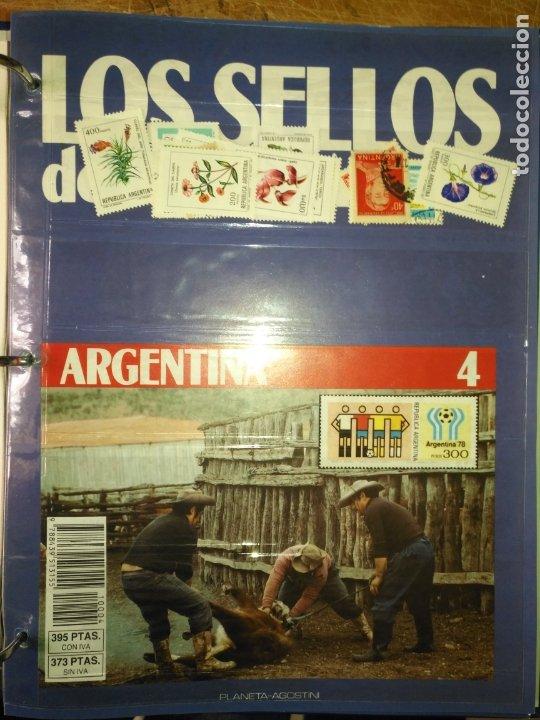 LOS SELLOS DE TODO EL MUNDO PLANETA AGOSTINI AÑO 1989 , FASCICULO + SELLO NUMERO 4 ARGENTINA (Sellos - Material Filatélico - Otros)