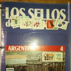 Sellos: LOS SELLOS DE TODO EL MUNDO PLANETA AGOSTINI AÑO 1989 , FASCICULO + SELLO NUMERO 4 ARGENTINA. Lote 182837680