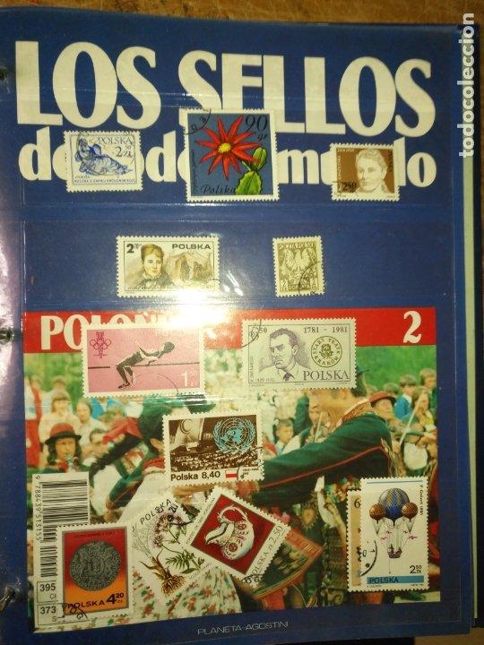 LOS SELLOS DE TODO EL MUNDO PLANETA AGOSTINI AÑO 1989 , FASCICULO + SELLO NUMERO 2 POLONIA (Sellos - Material Filatélico - Otros)