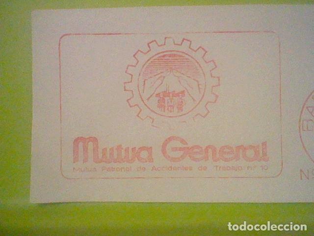 Sellos: MUTUA GENERAL BARCELONA PUBLICIDAD MATASELLO RODILLO 1971 RECORTADO 14 CMS APROX LARGO - Foto 2 - 182861533