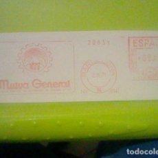 Sellos: MUTUA GENERAL BARCELONA PUBLICIDAD MATASELLO RODILLO 1971 RECORTADO 14 CMS APROX LARGO. Lote 182861533