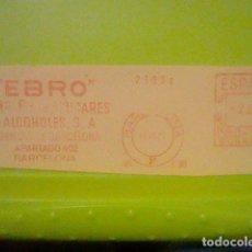 Sellos: EBRO AZUCARES ALCOHOLES BARCELONA PUBLICIDAD MATASELLO RODILLO 1971 RECORTADO 14 CMS APROX LARGO. Lote 182861905