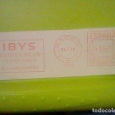 Sellos: IBYS INSTITUTO BIOLOGIA PUBLICIDAD MATASELLO RODILLO 1970 RECORTADO 12 CMS APROX LARGO. Lote 182862178