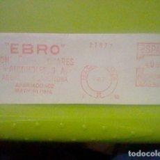 Sellos: EBRO AZUCARERA ALCHOLE BARCELONA MATASELLO RODILLO 7 VI 1971 RECORTADO 14 CMS APROX LARGO. Lote 182864076